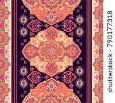 indian rug paisley ornament... | Shutterstock .eps vector #790177318