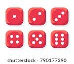 craps. red dice vector... | Shutterstock .eps vector #790177390