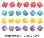 random 3d dice isolated on... | Shutterstock .eps vector #790177399