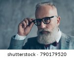 close up portrait of elegant... | Shutterstock . vector #790179520
