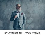 portrait of proud respected... | Shutterstock . vector #790179526