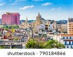 havana  cuba downtown skyline. | Shutterstock . vector #790184866