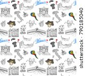 venice italy seamless pattern.... | Shutterstock . vector #790185040