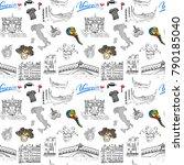 venice italy seamless pattern.... | Shutterstock . vector #790185040