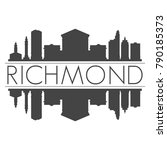 richmond virginia usa skyline... | Shutterstock .eps vector #790185373
