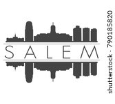 salem oregon usa skyline vector ... | Shutterstock .eps vector #790185820