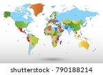 color world map vector | Shutterstock .eps vector #790188214