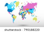 color world map vector | Shutterstock .eps vector #790188220