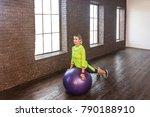 gymnastics equipment. woman... | Shutterstock . vector #790188910
