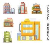 flat design of retro and modern ... | Shutterstock . vector #790190443