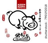 vector illustration of pig.... | Shutterstock .eps vector #790192018