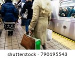 new york   nov 17  passengers... | Shutterstock . vector #790195543