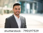 portrait of a smiling... | Shutterstock . vector #790197529
