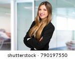 smiling businesswoman portrait | Shutterstock . vector #790197550