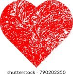 set of hearts . grunge stamps... | Shutterstock .eps vector #790202350