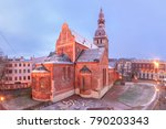 riga cathedral or cathedral of... | Shutterstock . vector #790203343