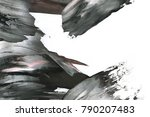 abstract ink background. marble ... | Shutterstock . vector #790207483