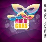 vector new orleans mardi gras... | Shutterstock .eps vector #790210018