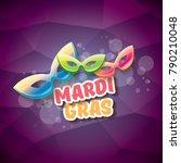 vector new orleans mardi gras... | Shutterstock .eps vector #790210048