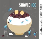 oversize shaved ice and... | Shutterstock .eps vector #790211020