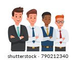 businessman doing different... | Shutterstock .eps vector #790212340