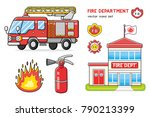 fire truck isolated ... | Shutterstock .eps vector #790213399