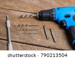 close up electric drill  drill... | Shutterstock . vector #790213504