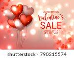 valentine's sale banner red... | Shutterstock .eps vector #790215574