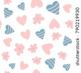 cute baby seamless pattern with ... | Shutterstock .eps vector #790219930