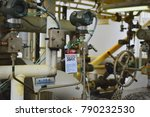 gas process valve isolation... | Shutterstock . vector #790232530