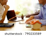 financial advisor in discussion ... | Shutterstock . vector #790233589