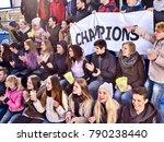 fans cheering in stadium... | Shutterstock . vector #790238440