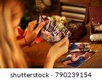 broken heart woman. couple... | Shutterstock . vector #790239154