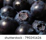 supermarket fresh blueberries | Shutterstock . vector #790241626
