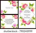 vintage delicate invitation... | Shutterstock . vector #790243999