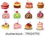 illustration of isolated set of ... | Shutterstock .eps vector #79024792