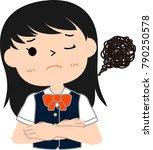 girl's honor student japanese...   Shutterstock .eps vector #790250578