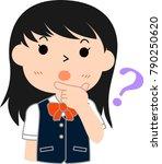 girl's honor student japanese...   Shutterstock .eps vector #790250620