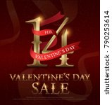 14 february valentines day sale ... | Shutterstock .eps vector #790253614
