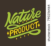 nature product. organic natural ... | Shutterstock .eps vector #790256464