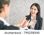 boss business man employer... | Shutterstock . vector #790258540