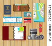 set of vector elements for... | Shutterstock .eps vector #790259116