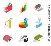 net profit icons set. isometric ... | Shutterstock .eps vector #790260418