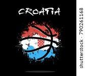 abstract basketball ball... | Shutterstock .eps vector #790261168