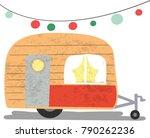 vintage retro pattern cute... | Shutterstock .eps vector #790262236