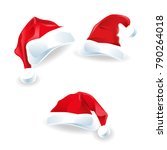 christmas set of santa hat... | Shutterstock .eps vector #790264018