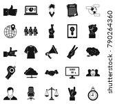 different gestures icons set.... | Shutterstock .eps vector #790264360