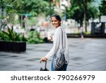 young and attractive indian... | Shutterstock . vector #790266979