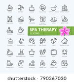 spa therapy massage cosmetics... | Shutterstock .eps vector #790267030