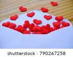 valentines day love letter.... | Shutterstock . vector #790267258